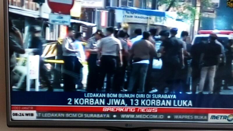 Bom di Surabaya, 2 Tewas, 13 Luka