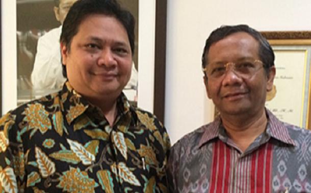Cawapres Jokowi Mengerucut ke Mahfud MD dan Airlangga