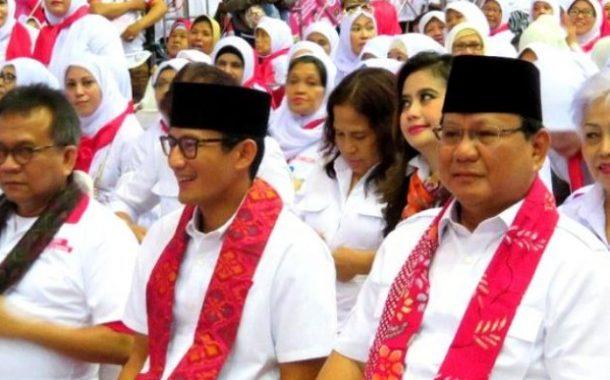 Prabowo-Sandiaga Daftar Capres-Cawapres