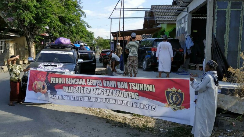 Peduli Bencana Sulteng, Alumni Akpol 2005 Kumpulkan Bantuan Ratusan Juta