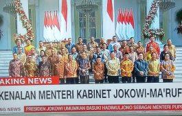 Ini Daftar Lengkap Menteri Kabinet Indonesia Maju
