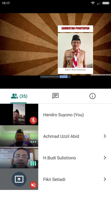 Antisipasi Corona, Kwarcab Pramuka Jakut Gelar Raker Online