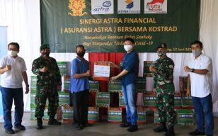 Kostrad Cibinong Terima 1.000 Paket Sembako dari Astra Financial