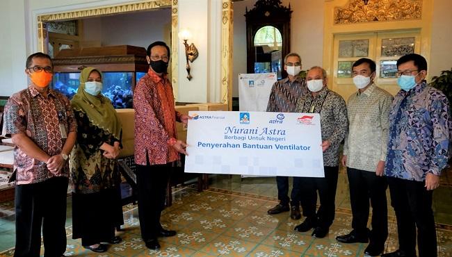 Astra Financial Serahkan 3 Ventilator ke Sri Sultan